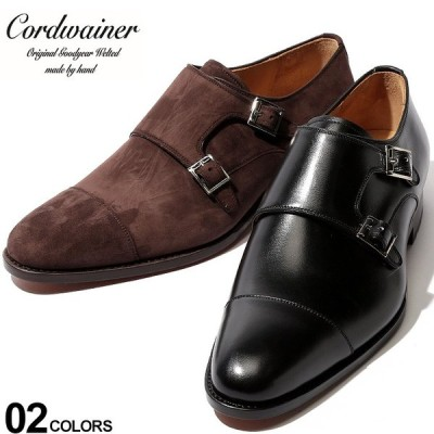コードウェイナー Cordwainer シューズ ダブルモンク ストラップ ストレートチップ レザー スエード ブランド メンズ 革靴 本革 CWOSWALD