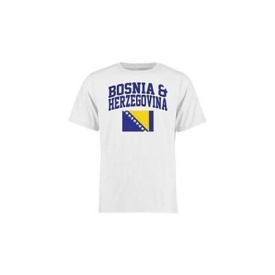 海外バイヤーおすすめ Tシャツ トップス ウエア Bosnia & Herzegovina ユース ホワイト フラッグ Tシャツ
