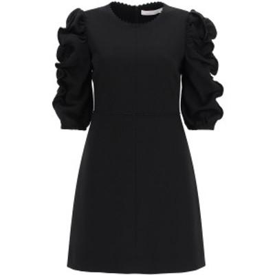 SEE BY CHLOE/シーバイクロエ ドレス BLACK See by chloe short dress with gathered sleeves レディース 春夏2021 CHS21SRO02012 ik