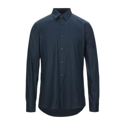 HUGO HUGO BOSS シャツ ダークブルー 40 コットン 95% / ポリウレタン 5% シャツ