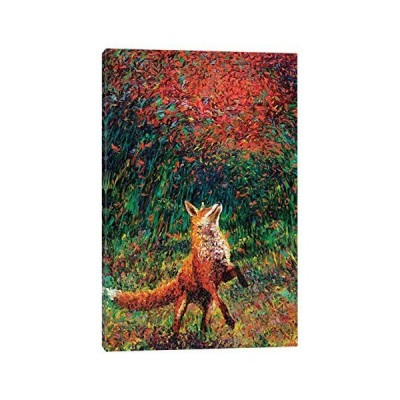 "iCanvasART Fox Fireキャンバスプリントby Irisスコット・、60?"" x 1.5?"" X 40?"" 12"" x 8"" IRS26-1PC3-12x8"