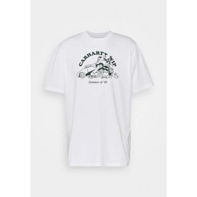カーハート メンズ ファッション FLAT TIRE - Print T-shirt - white