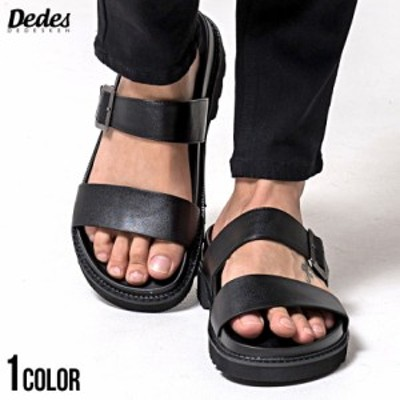 【BIG SALEクーポン利用可能】サンダル メンズ DEDES デデス 厚底ダブルベルトサンダル 即日発送 靴 スポーツサンダル 厚底 ダブルベルト