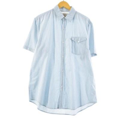 ラルフローレン Ralph Lauren POLO JEANS COMPANY 半袖 コットン チェックシャツ メンズXL /eaa167077