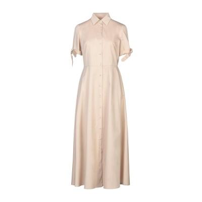 PUROTATTO ロングワンピース&ドレス ベージュ 42 レーヨン 98% / ポリウレタン 2% ロングワンピース&ドレス