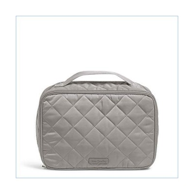 Vera Bradley Women's Performance Twill Large Blush & Brush Cosmetic Makeup Case, Tranquil Gray, One Size並行輸入品