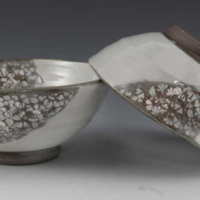 【送料無料】 京焼 清水焼 夫婦茶碗 組飯碗 2客セット ご飯茶碗 四季印華