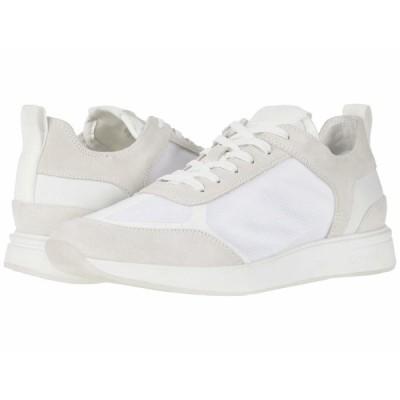 カルバンクライン スニーカー シューズ メンズ Delbert White/Translucent Mesh/Silky Suede/Lycra