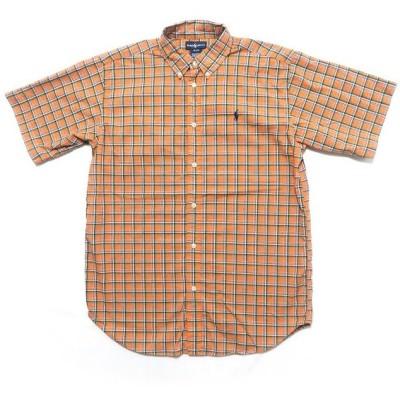 ポロラルフローレン ワンポイント ロゴ ボタンダウン 半袖 チェックシャツ サイズ表記:ボーイズXL(20)