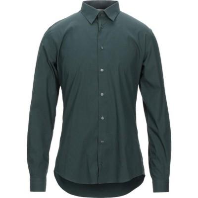 エクステ EXTE メンズ シャツ トップス solid color shirt Dark green