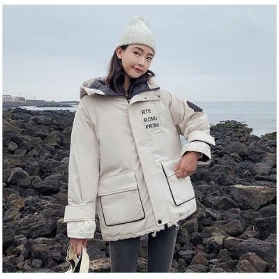 コートレディース中綿厚手アウター大人冬服厚手フード付きロング丈中綿ジャケット