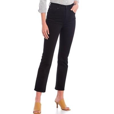 アントニオメラニー レディース デニムパンツ ボトムス Amanda High Rise Straight Leg Jeans Black