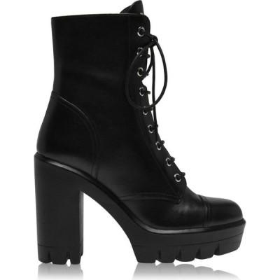 ジュゼッペ ザノッティ GIUSEPPE ZANOTTI レディース ブーツ ショートブーツ コンバットブーツ シューズ・靴 Combat Flat Ankle Boots Black