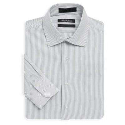 サックスフィフスアベニュー Men Clothing Jasper Pinstripe Dress Shirt