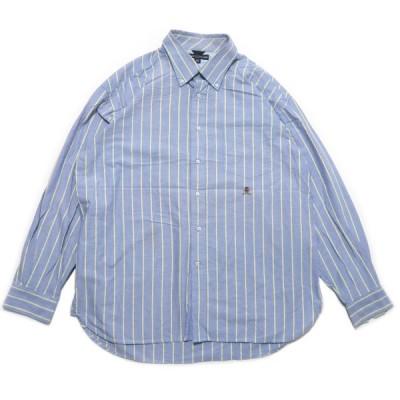 トミーヒルフィガー ボタンダウン ワンポイント ロゴ ストライプ シャツ サイズ表記:XL