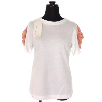 【中古】ファセッタズム FACETASM FRILL TEE フリルスリーブ Tシャツ カットソー 半袖 1 ピンク FNT-TEE-W06 レディース 【ベクトル 古着】