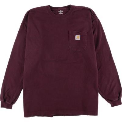 カーハート ポケット ロングTシャツ ロンT メンズXXL /eaa048490