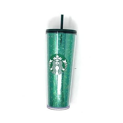 スターバックス 2019 ホリデーシーズン マーキュリー グリッター グリーン プラスチック コールドカップ