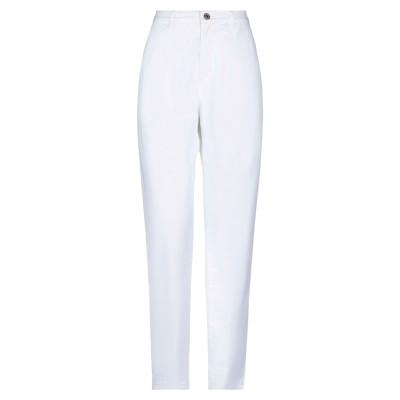 EUROPEAN CULTURE パンツ ホワイト 26 コットン 93% / ポリエステル 5% / ポリウレタン 2% パンツ