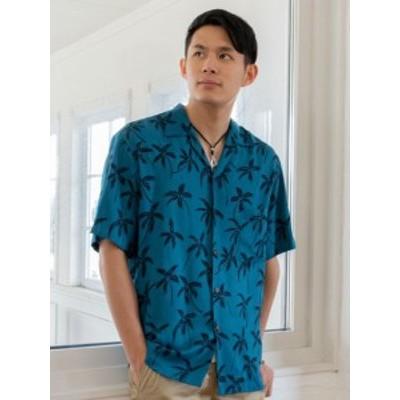Kahiko 公式 《パームアロハメンズシャツ》 カヒコ ハワイアン  ファッション メンズトップス 4HP-9607