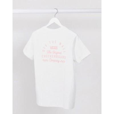 バンズ レディース シャツ トップス Vans In Deep Boyfriend t-shirt in white White