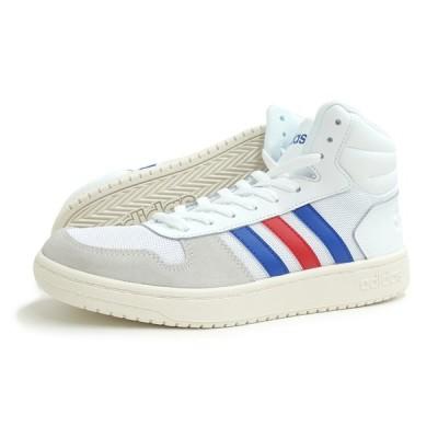 adidas(アディダス)ADIHOOPS 2.0 MID U(アディフープス 2.0 ミッド U)(FW8252/ホワイト)  スニーカー 運動靴 ミッドカット トリコロール