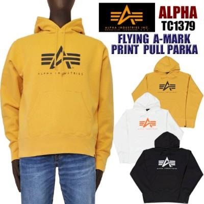 ALPHA アルファ TC1379 FLYING A-MARK プルオーバーパーカー メンズ スウェット alpha 正規販売店 送料無料