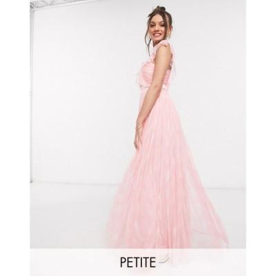アナヤ ミディドレス レディース Anaya With Love Petite pleat front printed maxi dress in pink print エイソス ASOS ピンク