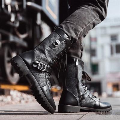 メンズ ブーツ ショートブーツ ワークブーツ ミリタリー 革靴 カジュアルシューズ アウトドア オシャレ男子靴