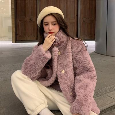 アウター ファー コート エレガント 上品 お出かけ きれいめ カジュアル 大人可愛い 韓国ファッション
