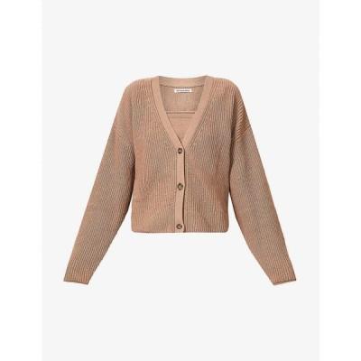リフォーメーション REFORMATION レディース カーディガン トップス Elke top and cardigan organic cotton-knit set CLAY
