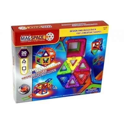 「MAGSPACE」 マグスペース 高級 磁石玩具 マグネット立体パズル「30ピース 基本セット」