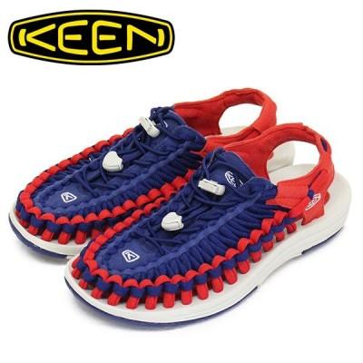 KEEN (キーン) 1023067 Women's UNEEK FLAT ユニークフラット レディース サンダル BLUE DEPTHS/FIREY RED KN432
