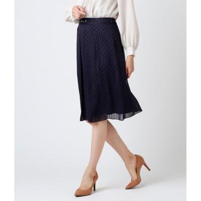 【ニューヨーカー/NEWYORKER】 チェーンモノグラムプリント ビット使いスカート