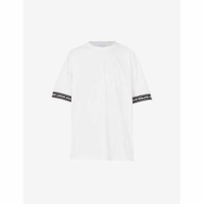 バーバリー BURBERRY メンズ Tシャツ トップス Teslow oversized cotton-jersey T-shirt WHITE