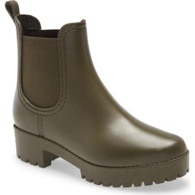 ジェフリー キャンベル JEFFREY CAMPBELL レディース レインシューズ・長靴 チェルシーブーツ シューズ・靴 Cloudy Waterproof Chelsea Rain Boot Army Green