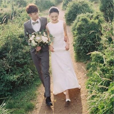 ウェティグドレス Aラインドレス ロングドレス 結婚式 パーティードレス 安い 大きいサイズ 発表会 二次会 海外挙式 花嫁 ドレス おしゃれ トレーン