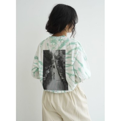(FIKA./フィーカ)JANE SMITH Harlem On Rainy Day L/S Tーshirt/レディース グリーンG