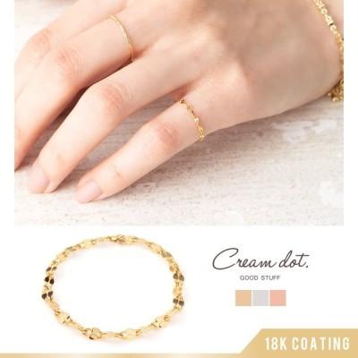リング 指輪 金属アレルギー ニッケルフリー チェーンリング 細い 大きいサイズ 大人 上品 エレガント 華奢 ゆうパケットOK