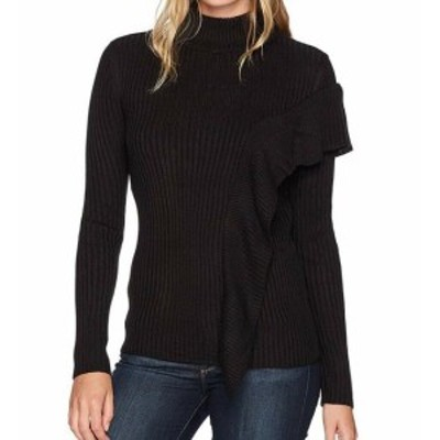 Ivanka Trump イバンカトランプ ファッション トップス Ivanka Trump NEW Black Womens XL Mock Neck Ruffle Pullover Sweater