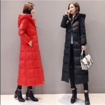 2色 ダウンコート ダウンジャケット 女性 中綿 ロング丈 アウター 防寒 軽量 防風 キレイめ 暖かい カジュアル 通勤 OL オフィス シン