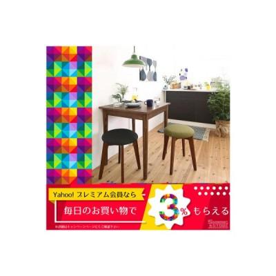 ダイニングテーブルセット 2人用 1Kでも置ける横幅68cmコンパクトダイニングセット 3点セット テーブル+スツール2脚 ブラウン W68 5000296257