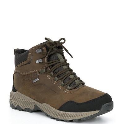 メレル メンズ ブーツ&レインブーツ シューズ Men's Forestbound Mid Waterproof Boots Cloudy