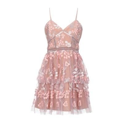 SELF-PORTRAIT ミニワンピース&ドレス ローズピンク 12 ポリエステル 92% / 金属繊維 8% ミニワンピース&ドレス