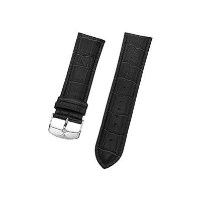 【新品・送料無料】Stuhrling Original Mens 24mmブラックレザー時計ストラップwithスチールバックルSt。107bg。33152