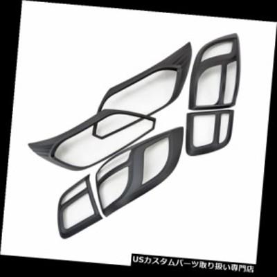 ヘッドライトカバー シボレートレイルブレイザーLTZ 2016 2018用ヘッドテールランプライトカバーマットブラック  He