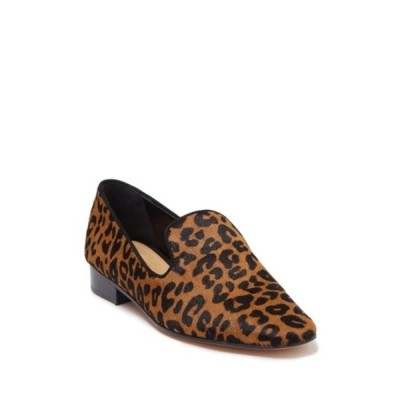 シュッツ レディース サンダル シューズ Graca Leopard Print Genuine Calf Hair Loafer SANDSTONE BLACK