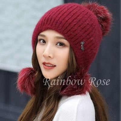帽子 レディース ニット帽 ハット もこもこ 暖かい かわいい 裹起毛 韓国風 秋 冬 学生 彼女 オシャレ おしゃれ ギフト 贈り物