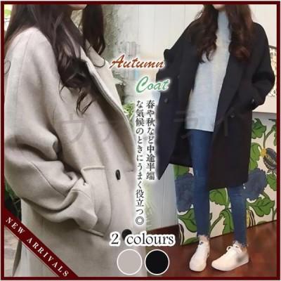 チェスターコート レディース コート ゆったり Aライン アウター お洒落 大きいサイズ 暖かい 体型カバー 春秋