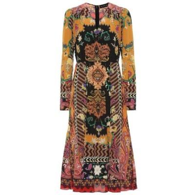 エトロ Etro レディース ワンピース ミドル丈 ワンピース・ドレス Printed silk midi dress